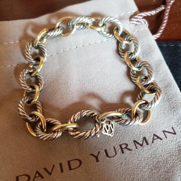 eaf24e893 David Yurman Jewelry - Authentic David Yurman Oval Link Bracelet w/ Gold